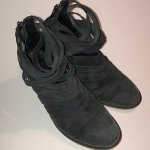 FREE PEOPLE 'Hybrid' Strappy Leather Booties Shoes